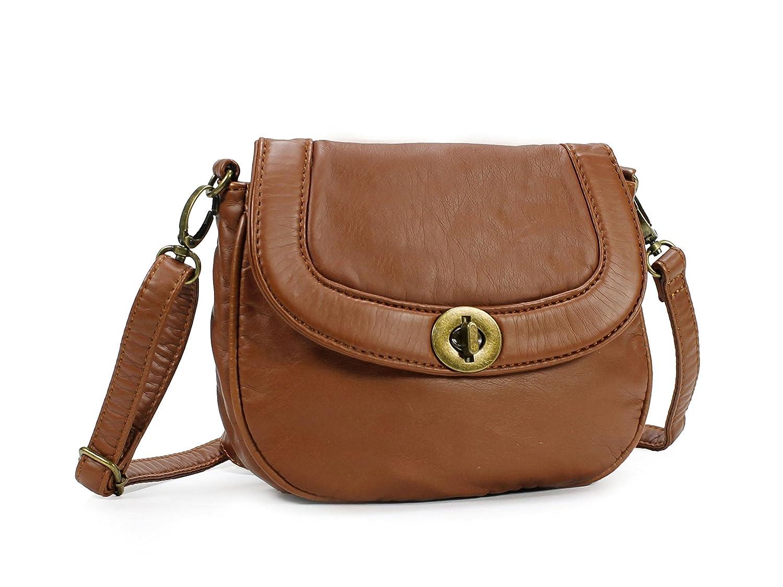 a67350329d732 Scarleton Mini Soft Washed Everyday Crossbody Bag H182304 - Brown  Handbags   Amazon.com