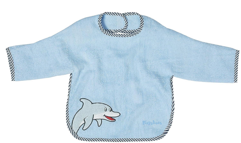 colore: Beige motivo: cane Playshoes 507420 Bavaglino con maniche e chiusura in velcro