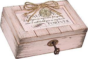 Cottage Garden Daughter in My Heart Forever Blush Pink Locket Petite Music Box Plays Friend in Jesus