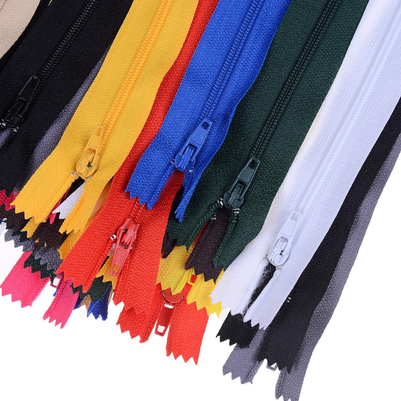 Locolo 121/pezzi zipper kit riparazione zipper Pull replacement con cerniera installare pinze strumento nylon bobina cerniere Bulk