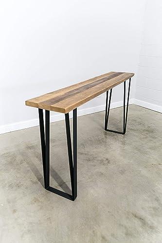 Amazon.com: Counter Height Barn Wood Console Table, Sofa Table