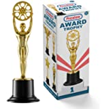 Prextex 10-Inch Gold Movie Buff Award Trophy for Trophy Awards and Party Celebrations, Award Ceremony, and Appreciation…
