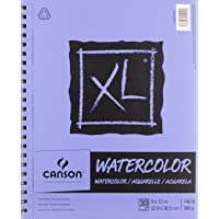 """Canson 400068375 XL Watercolor Pad, 0, 9""""X12"""""""