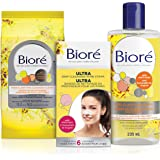 Biore Ultra Deep Cleansing Pore Strips 6ct, Pore Clarifying Toner with Salicylic Acid, 235 mL and Pore Clarifying Cleansing C