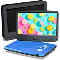 """SUNPIN 12.5"""" Portable DVD Player for Car and Kids with Headrest Mount, 10.1"""" HD Screen, 5 Hours Rechargeable Battery…"""