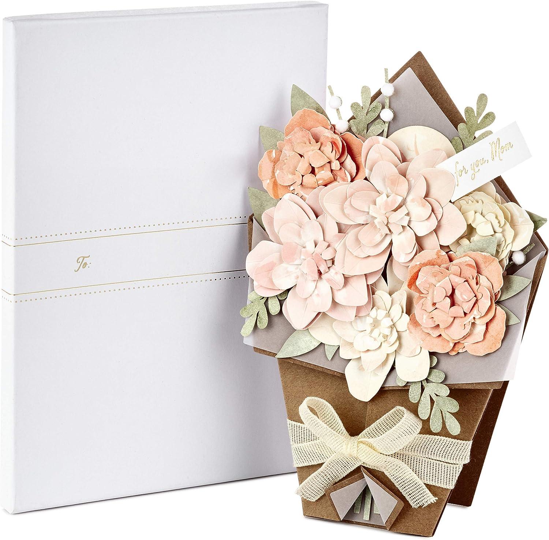 tama/ño mediano dise/ño contempor/áneo en relieve Hallmark Tarjeta de felicitaci/ón de aniversario para futura madre