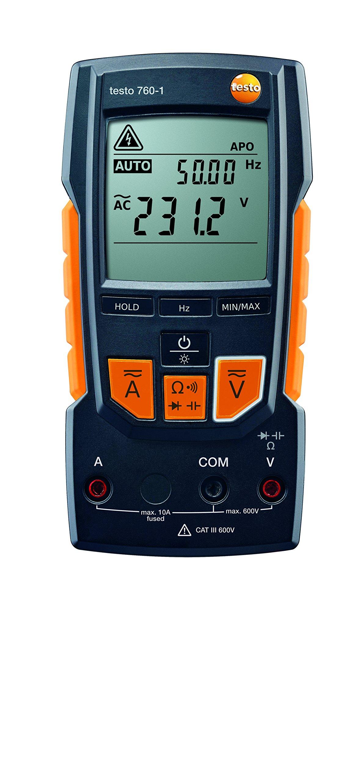 Testo 0590 7601 760-1 Digital Multimeter, 2'' Height, 3'' Width, 7'' Length by Testo (Image #3)