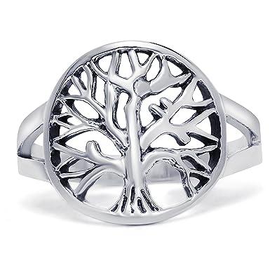 [Sponsored]Open Tree of Life Sterling Silver Ring sLjIvN
