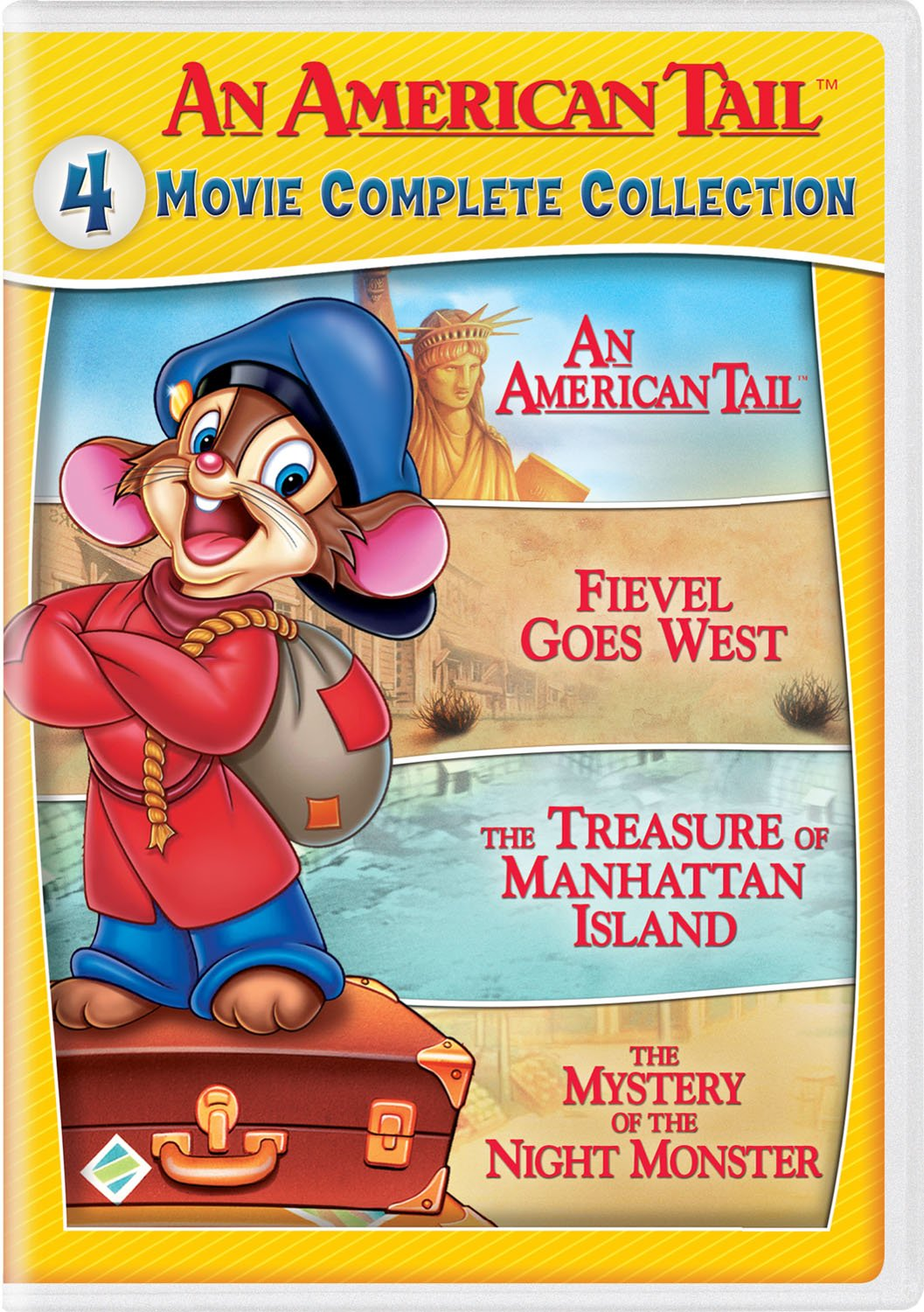 DVD : An American Tail: 4 Movie Complete Collection (2 Pack, 2 Disc)