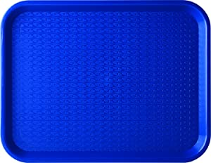 "Carlisle CT141814 Café Standard Cafeteria / Fast Food Tray, 14"" x 18"", Blue (Pack of 12)"