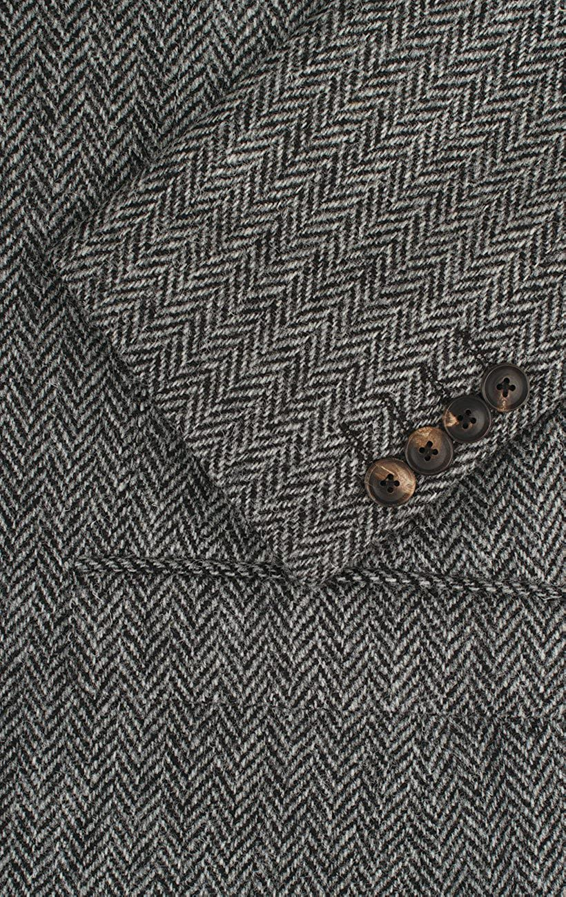 Harris Tweed Mens Grey Suit Jacket Regular Fit 100/% Wool Herringbone