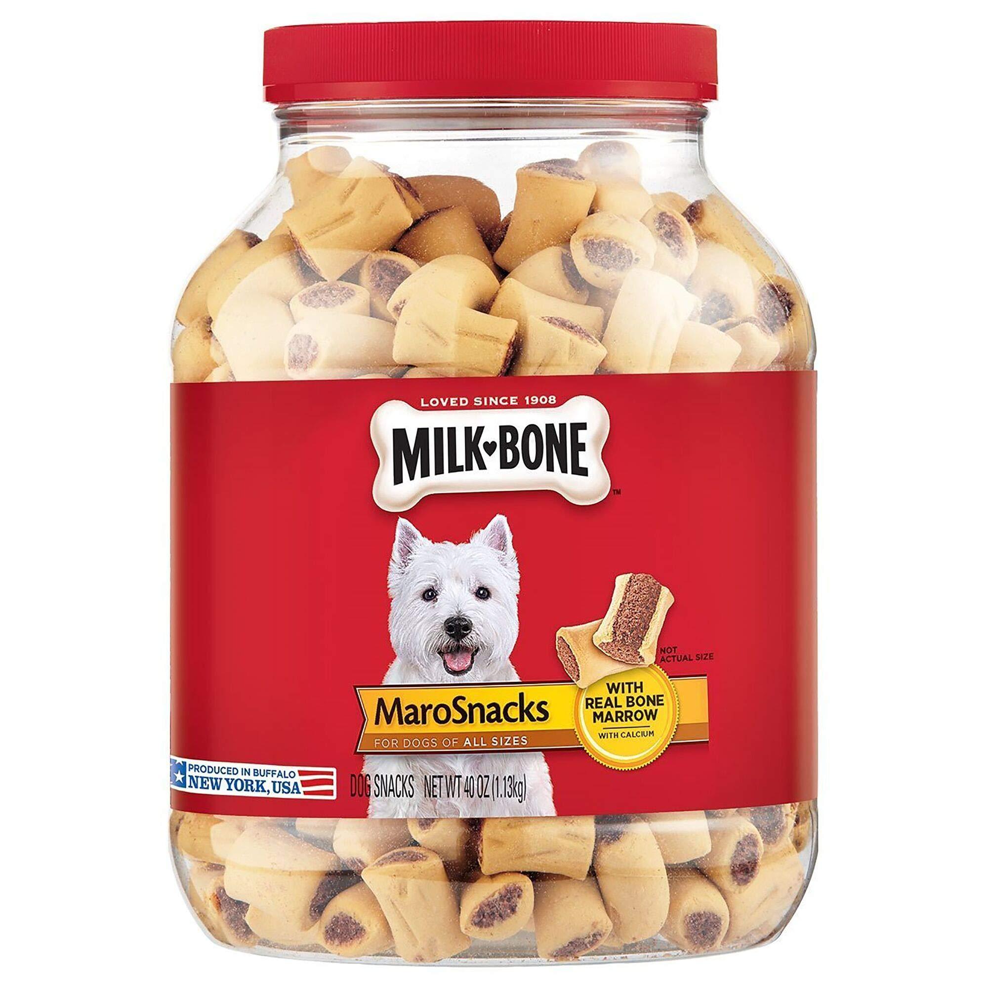 Milk-Bone MaroSnacks Dog Treats with Real Bone Marrow and Calcium