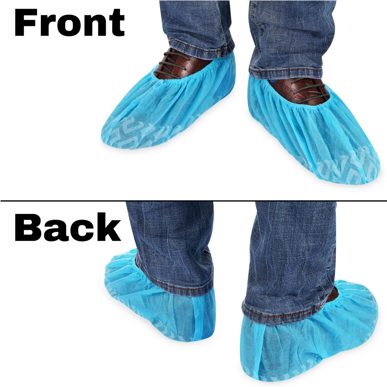 MIFFLIN Disposable Shoe Covers (Blue, 120 Pieces) Durable Boot Covers, Non-Slip Polypropylene, One Size Fits Most by MIFFLIN (Image #4)