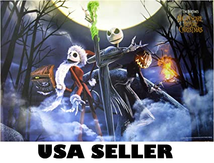 the nightmare before christmas horiz poster 34 x 235 tim burton movie animated sent from - Nightmare Before Christmas Pipe