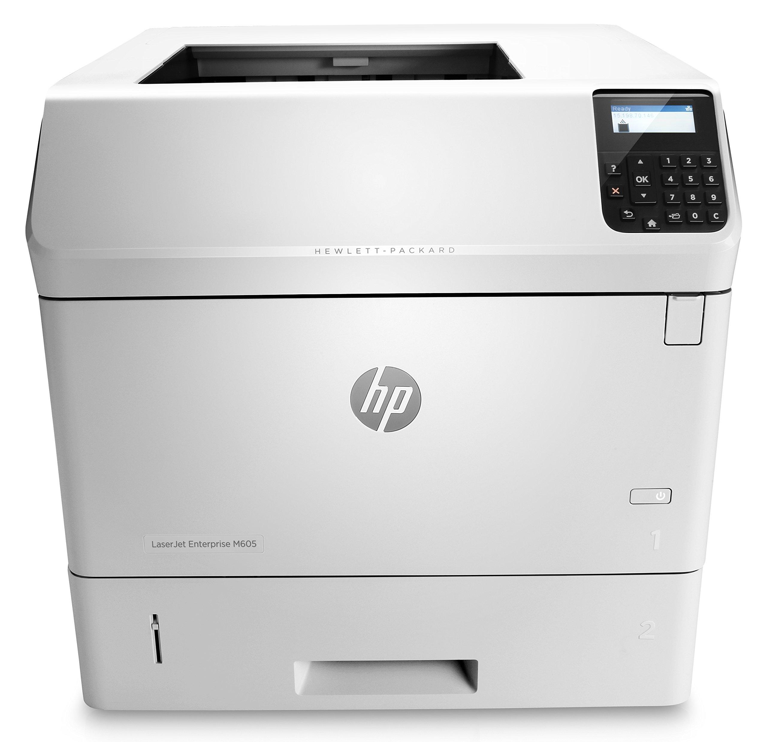 HP Monochrome LaserJet Enterprise M605n Printer w/ HP FutureSmart Firmware, (E6B69A) by HP