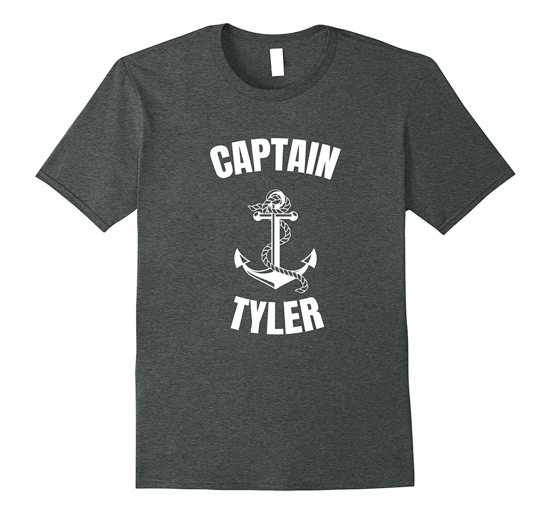 Captain Tyler T-Shirt Personalized Boat Captain Shirt-FL