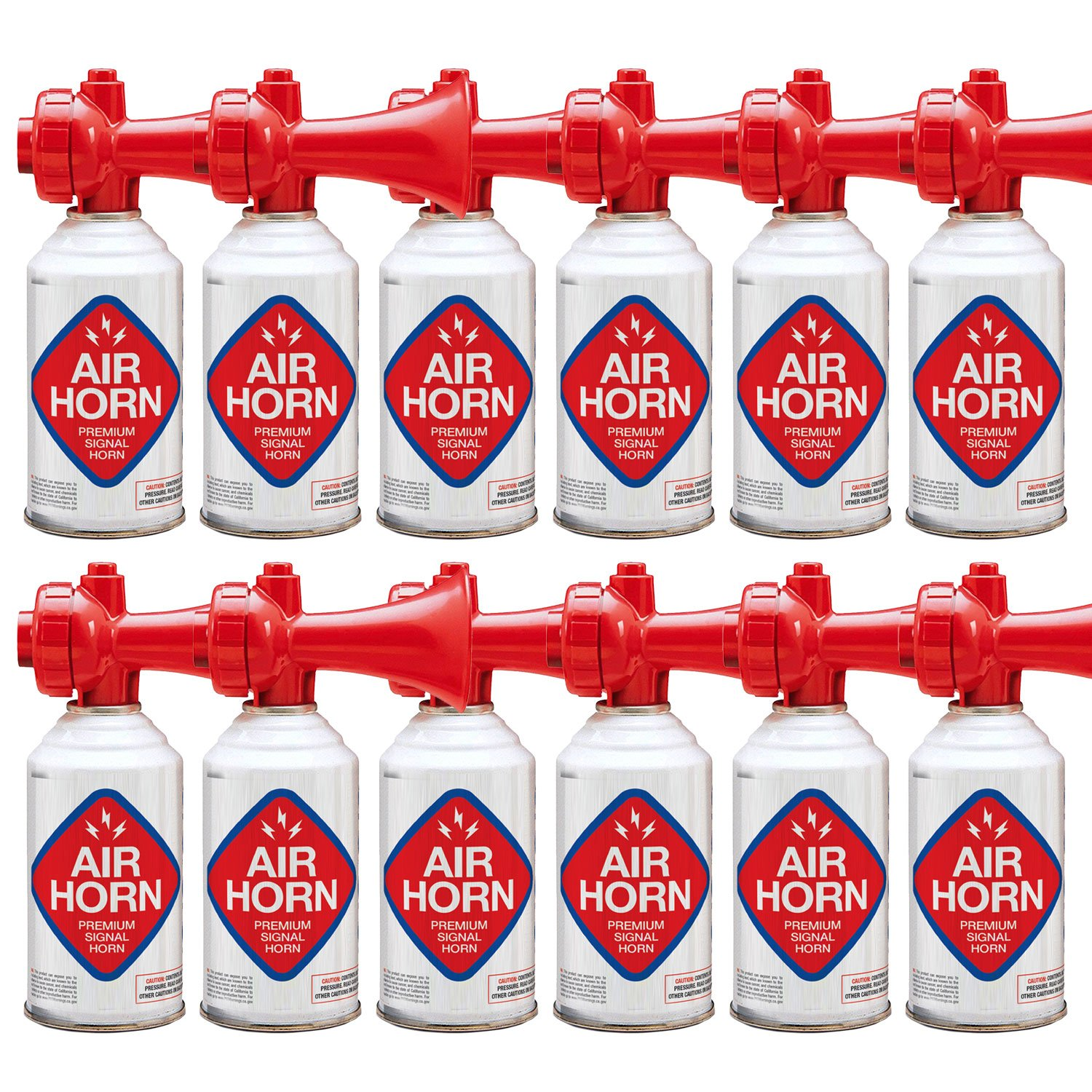 Air Horn for Boating, Sports, Safety. Loud & Effective Boat Signal & Shoreline Marine USCG Rated - Appropriate for Any Purpose - Non-Flammable, Ozone Safe. (12-Pack 8oz) by K3 Brands