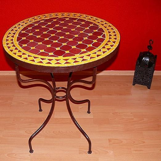 Mesa de jardín de mosaico piedra herrero Hierro mano Marruecos ...