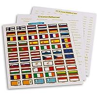 Leuchtturm 321082 Etiquetas Set para Monedas de Euro