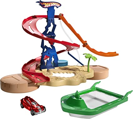 Hot Wheels Splash Rides All-The-Ray Action Track Set