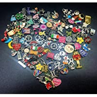 100PC Metal Memory Locket Lot Pendants Necklace Accessories Random Mixed Charms For Jewelery Making(Mixed Color)
