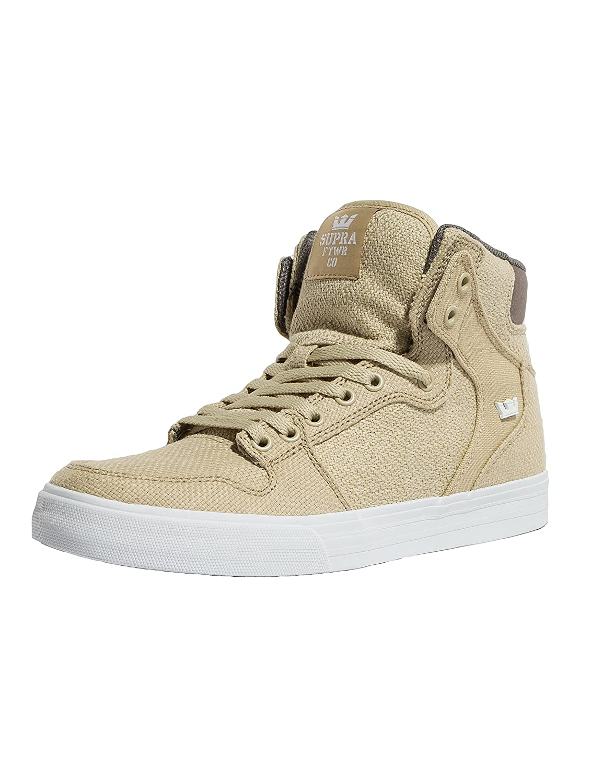 Supra Vaider Skate Shoe B074KKJS3R 8 M US|Mojave/Dk Grey-white