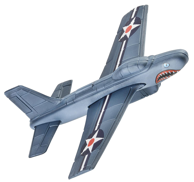 Aeromax AFF2 Aerobatic Flyer Shark Bite Edition Foam Airplane, Grey/Silver
