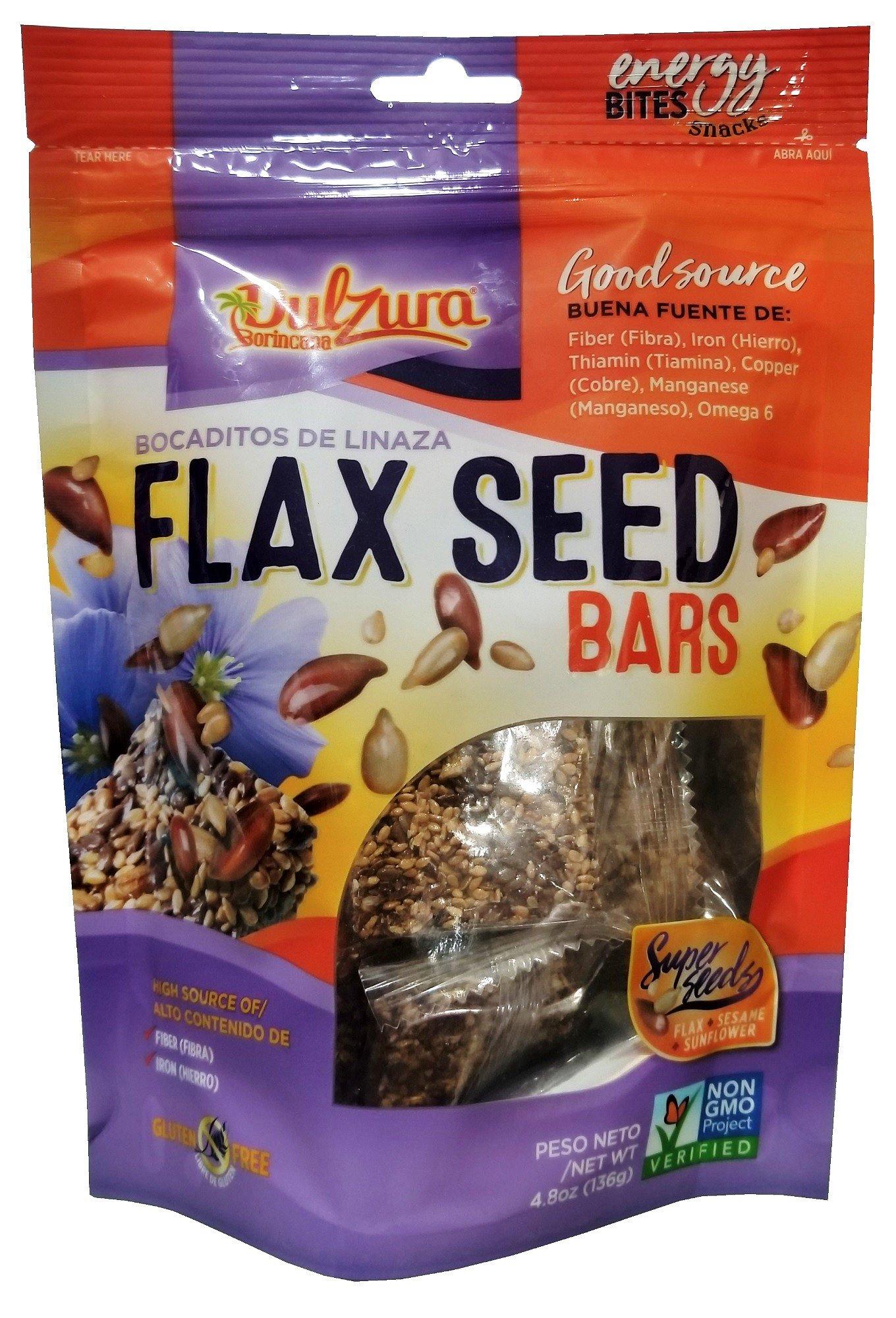 Dulzura Borincana Nutri Seeds (Flax Seeds, Seame Seeds, Sunflower Seeds) Bites 5