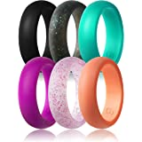Women's Silicone Wedding Ring,Singles & 6 Pack