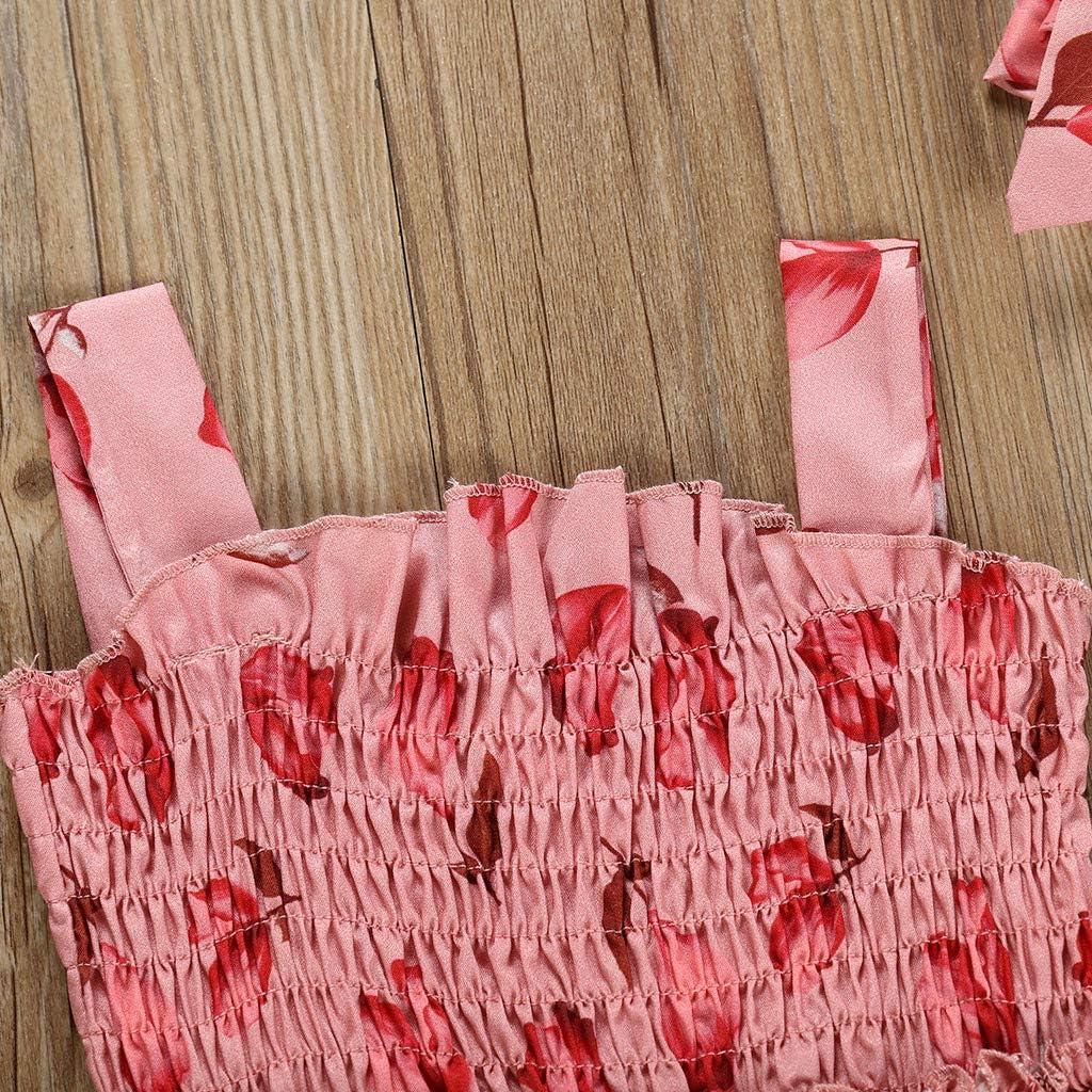 Stirnband Strampler Outfits Set HWTOP Baby M/ädchen Kleidung Set Strampler Haarband Bekleidungsset Kleinkind Kind Schleife Drucken Lotusblatt Einteilige Romper Kleid