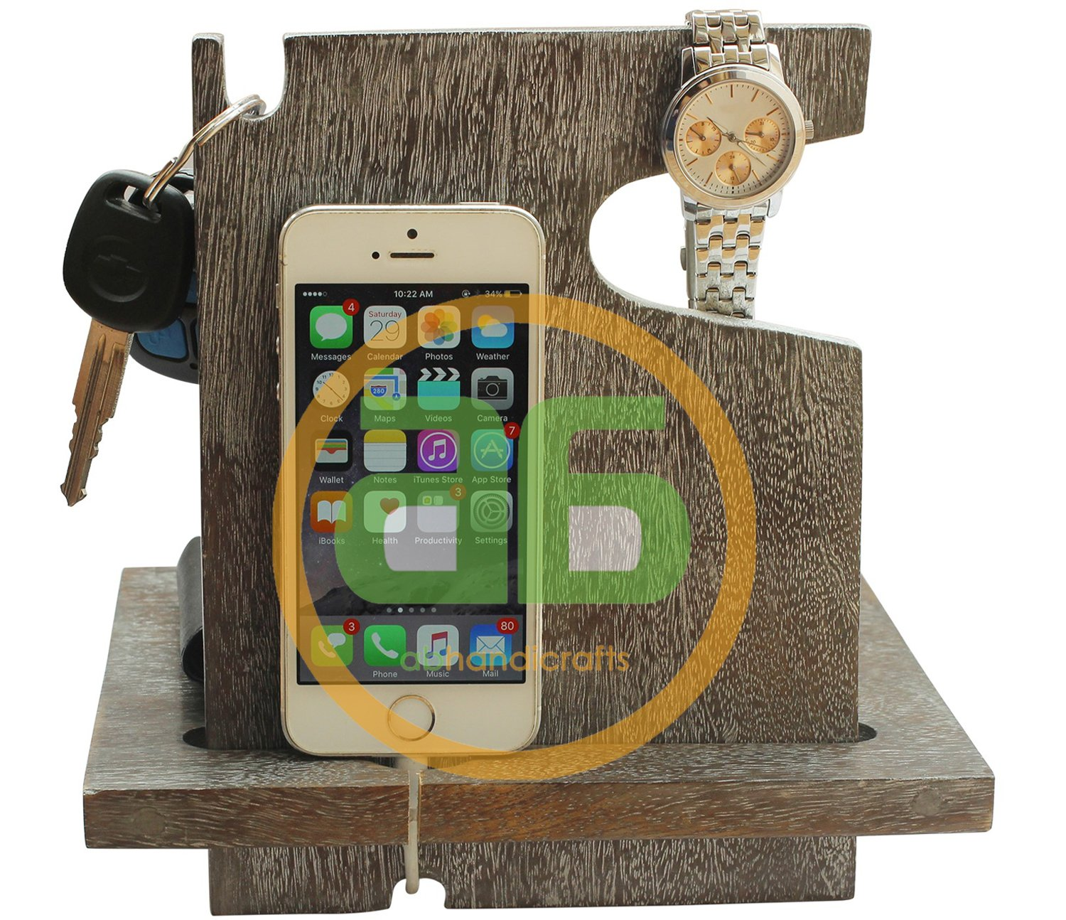 AB Handictafts - Mango Wooden Silver Android Docking: Amazon in