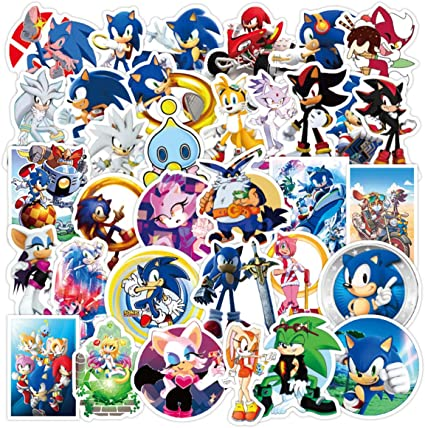 Amazon Com Showsup Water Bottle Sonic The Hedgehog Stickers 50pcs Lovely Boy And Girl Stickers Laptop Water Bottle Luggage Snowboard Bicycle Skateboard Decal For Kids Teens Waterproof Stickers Toys Games