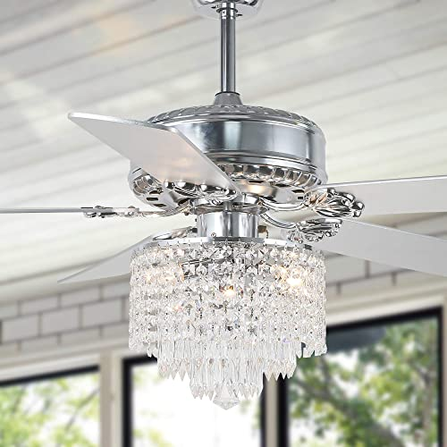 52″ Crystal Ceiling Fan