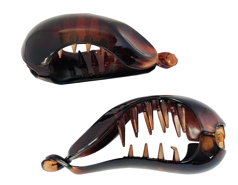 A Tortoiseshell Brown Banana//Fish Hair Clip