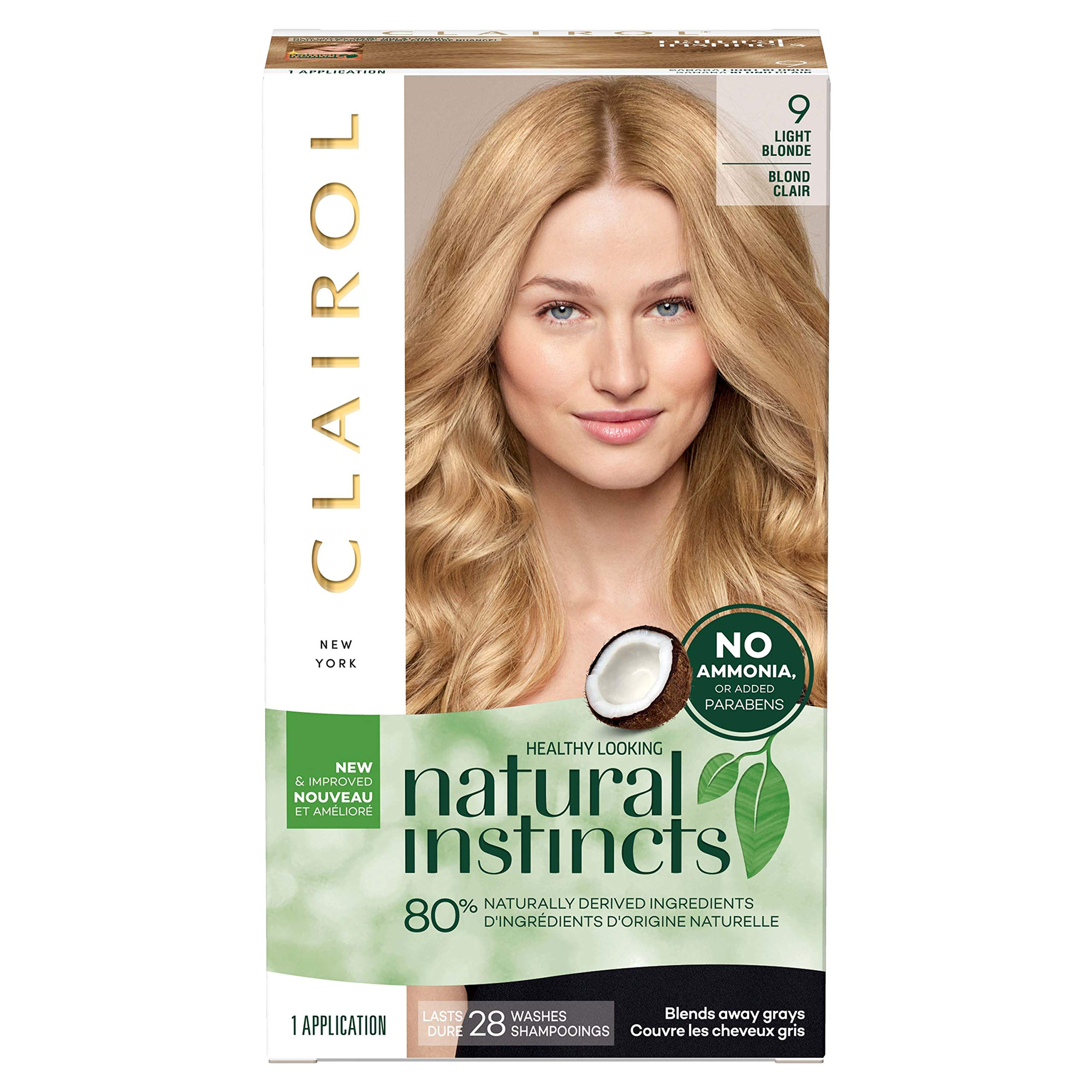 Clairol Natural Instincts Semi-Permanent, 9 Light Blonde, Sahara, 1 Count