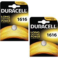 Two (2) X Duracell CR1616 Lithium Coin Cell Battery 3v Blister Packed