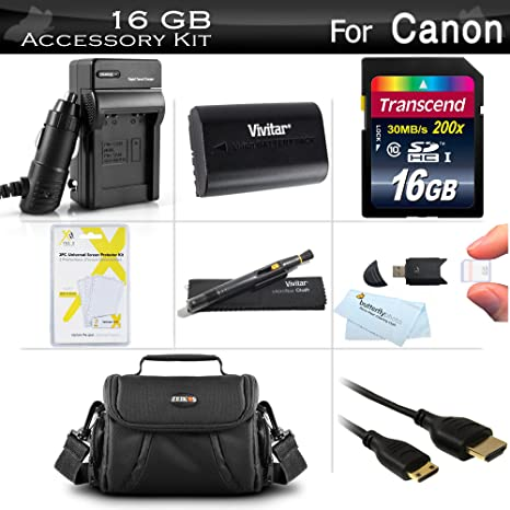 Amazon.com: 16 GB accesorios Kit para Canon EOS 6d, EOS 70d ...