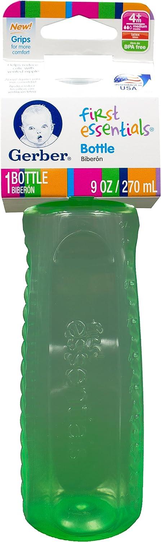 9 Oz Gerber Baby Bottle Plastic Pastel