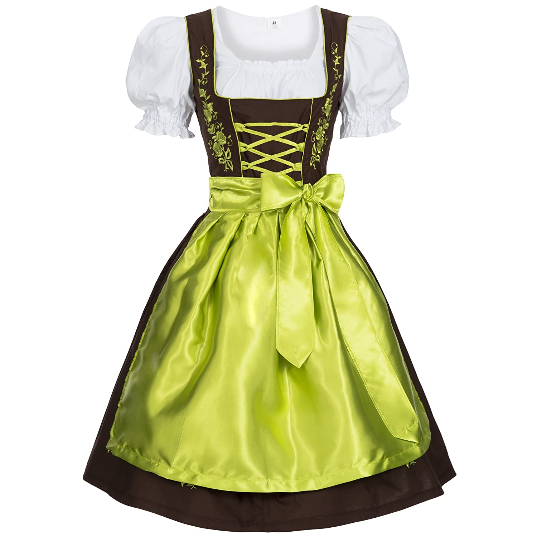 Women's German Dirndl Dress Costumes Bavarian Oktoberfest Carnival Halloween GL2870DKleidGR
