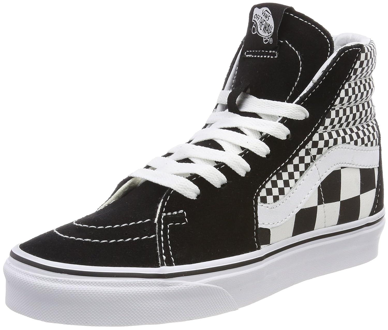 Vans Sk8-Hi, Zapatillas Altas Unisex Adulto 38 EU Negro (Mix Checker)