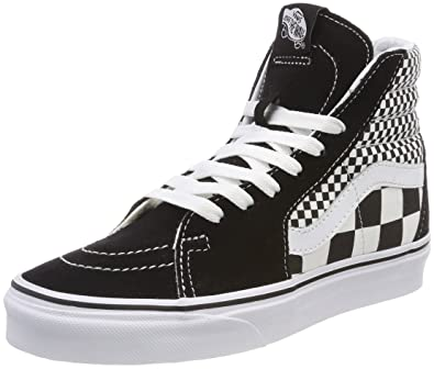 Vans Sk8hi Mix Checker Unisex Black White Scarpe 5 UK