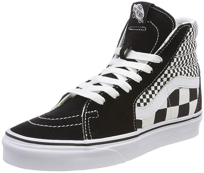 Vans Sk8-hi Schuhe Unisex-Erwachsene Leder u. Textil schwarz weiß kariert