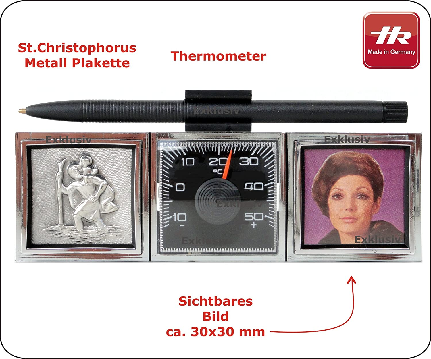 1969 Thermometer /& Christophorus KFZ *Made in Germany*