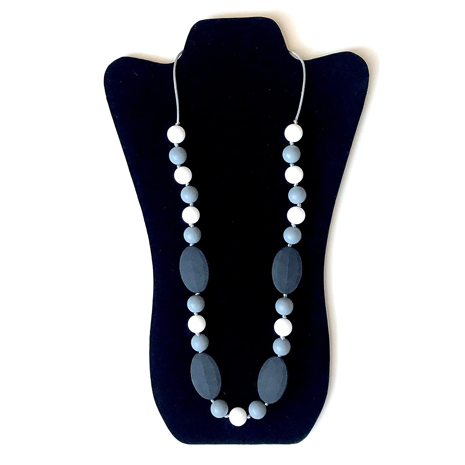 Silicone Baby Teether Nursing Necklace with BPA Free Chewbeads Teething Necklace for Moms to wear Elegant
