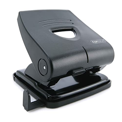 Rapesco Hole Punch - 827-P, 30-sheet capacity. Black