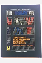 Study guide to accompany Statistics for modern business decisions: A self-paced approach Unknown Binding