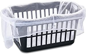 HOMZ 1220266 Laundry Basket Helper, White