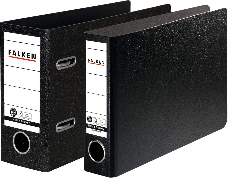 Falken Ordner Din A5 QUER 5cm schmal schwarz Bankordner Büroordner Briefordner