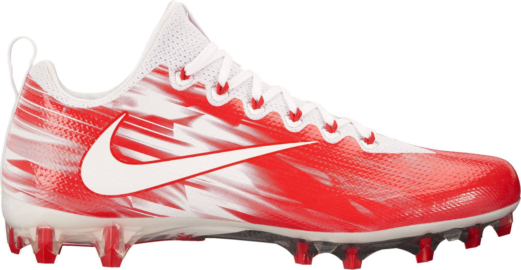 NIKE Men's Vapor Untouchable Pro Lacrosse Cleats (10, White/Red)
