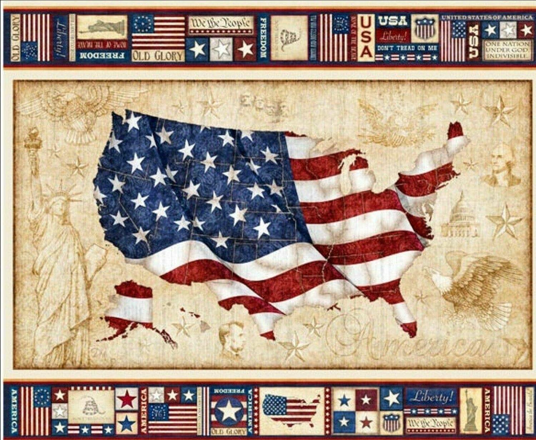 American Pride US Flag USA America Old Glory United States 35 Fabric Panel QT